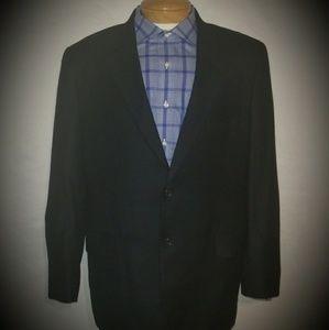 Jack Victor Black Cashmere Blazer Size 44 Long